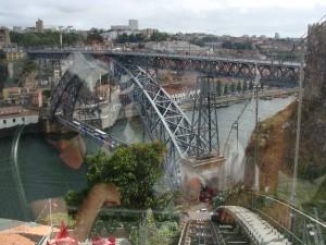Brug Porto vanuit funicular